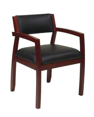 OSP Furniture NAP95CHY-EC3 Napa Cherry Guest Chair With Upholstered Back (1-Pack) - Peazz.com