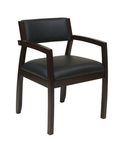 OSP Furniture NAP95ESP-EC3 Napa Espresso Guest Chair With Upholstered Back (1-Pack) - Peazz.com