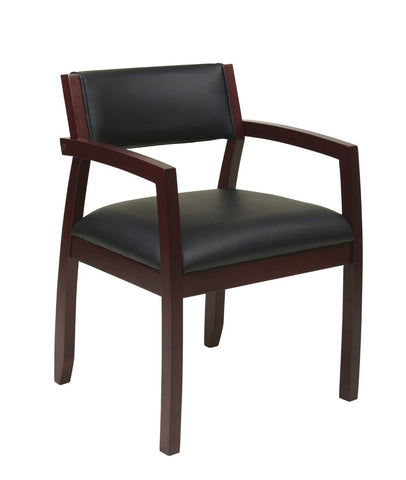 OSP Furniture NAP95MAH-3 Napa Mahogany Guest Chair With Upholstered Back (1-Pack) - Peazz.com