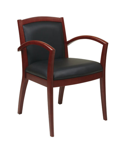 OSP Furniture NAP97CHY-EC3 Napa Cherry Guest Chair With Full Cushion Back (1-Pack) - Peazz.com