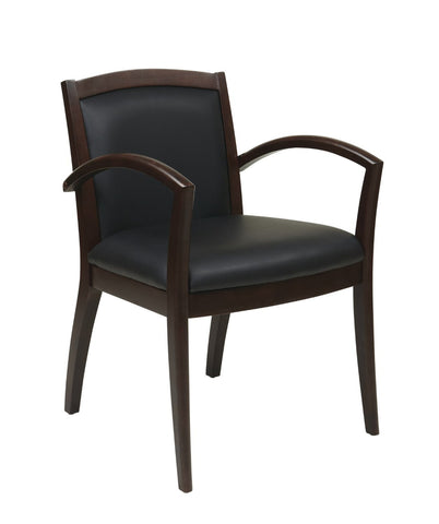 OSP Furniture NAP97ESP-EC3 Napa Espresso Guest Chair With Full Cushion Back (1-Pack) - Peazz.com