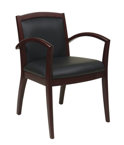 OSP Furniture NAP97MAH-EC3 Napa Mahogany Guest Chair With Full Cushion Back (1-Pack) - Peazz.com