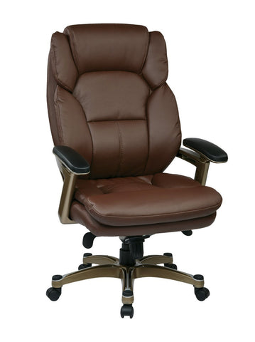 Work Smart OPH61601-EC6 Executive Eco Leather Chair (Cocoa/Wine) - Peazz.com