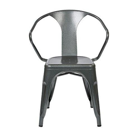 "Work Smart / OSP Designs PTR2830A2-11 30"" Metal Chair (2-Pack) (White) - Peazz.com"