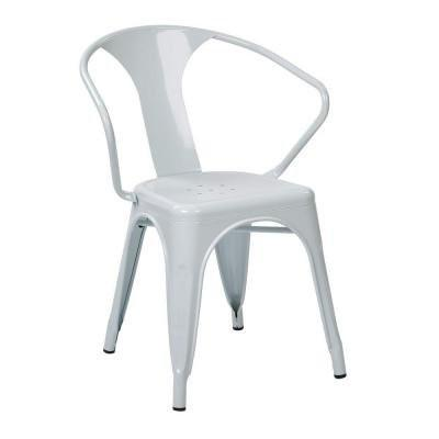 "Work Smart / OSP Designs PTR2830A4-11 30"" Metal Chair (4-Pack) (White) - Peazz.com"