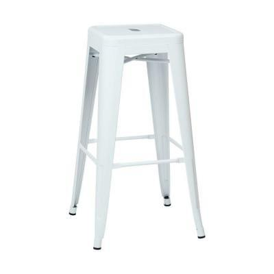 "Work Smart / OSP Designs PTR3030A2-11 30"" Steel Backless Barstool (2-Pack) (White) - Peazz.com"
