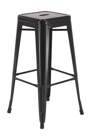 "Work Smart / OSP Designs PTR3030A4-3 30"" Steel Backless Barstool (4-Pack) (Black) - Peazz.com"