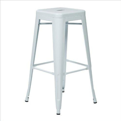 "Work Smart / OSP Designs PTR3030A4-9 30"" Steel Backless Barstool (4-Pack) (Red) - Peazz.com"