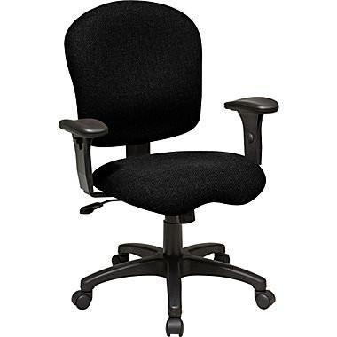 Work Smart SC66-231 Task Chair with Saddle Seat and Adjustable Soft Padded Arms - Peazz.com
