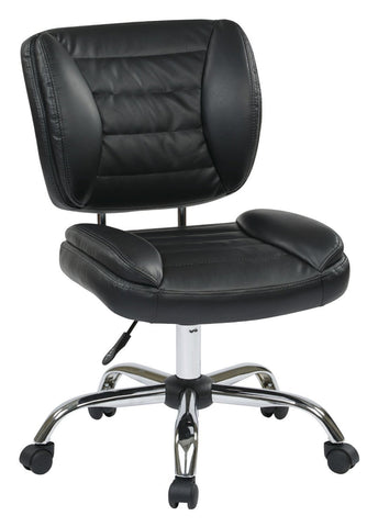 Work Smart ST52050C-U6 Armless Task Chair (Black) - Peazz.com
