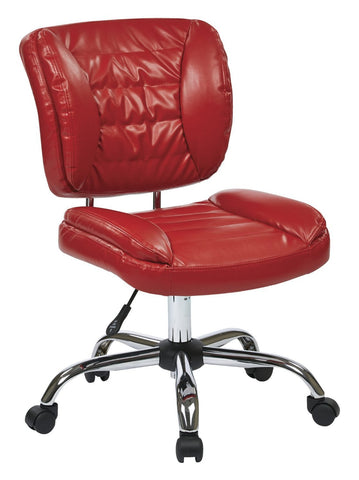 Work Smart ST52050C-U9 Armless Task Chair (Red) - Peazz.com