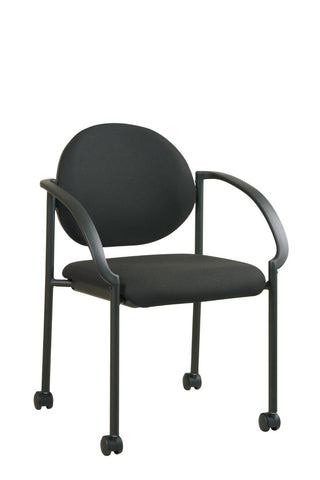 Work Smart STC3440-231 Stack Chairs with Casters and Arms - Peazz.com
