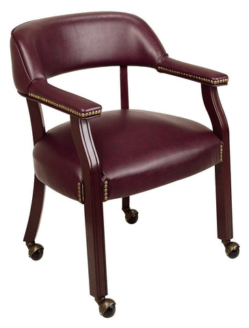Office Star Work Smart TV231-JT4 Traditional Guest Chair with Wrap Around Back and Casters - Peazz Furniture