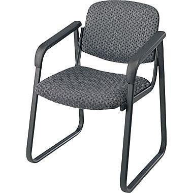 Work Smart V4410-75 Deluxe Sled Base Arm Chair with Designer Plastic Shell - Peazz.com