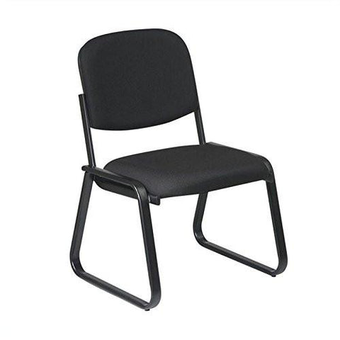 Work Smart V4420-231 Deluxe Sled Base Armless Chair with Designer Plastic Shell - Peazz.com