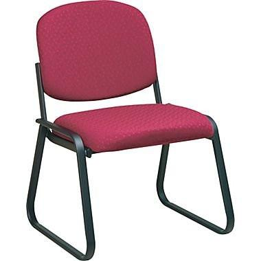Work Smart V4420-74 Deluxe Sled Base Armless Chair with Designer Plastic Shell - Peazz.com