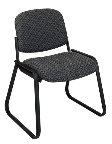 Work Smart V4420-75 Deluxe Sled Base Armless Chair with Designer Plastic Shell - Peazz.com