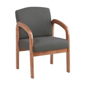 Work Smart WD380-320 Medium Oak Finish Visitors Chair - Peazz.com