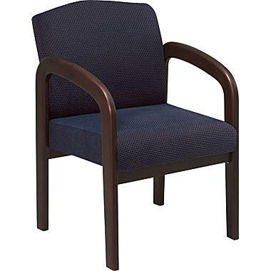 Work Smart WD388-317 Espresso Finish Visitors Chair - Peazz.com