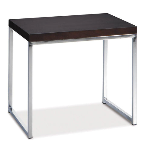 Office Star Ave Six WST09 Wall Street End Table in Espresso - Peazz Furniture