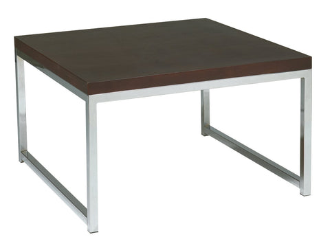 "Office Star Ave Six WST17 Wall Street 28"" Accent/Corner Table in Espresso - Peazz Furniture"