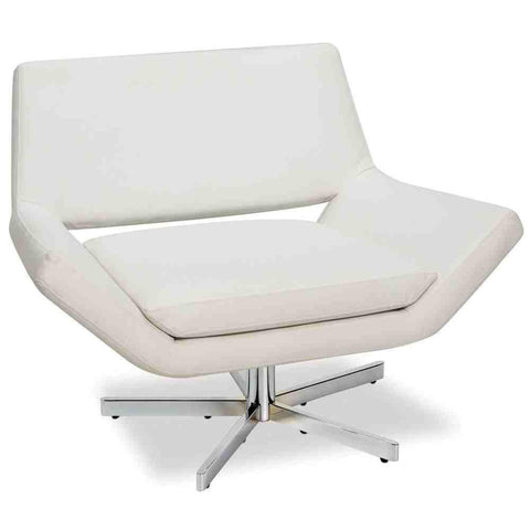"Office Star Ave Six YLD5141-W32 Yield 40"" Wide Chair in White Faux Leather - Peazz Furniture"