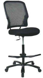 Office Star Space Seating 15-37A720D Big Man's Dark AirGrid® Back with Black Mesh Seat Double Layer Seat  Drafting Chair (No Arms) - Peazz Furniture