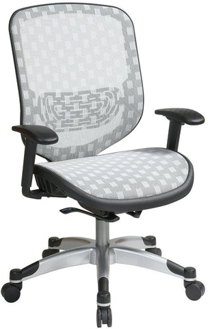 Office Star Space Seating 829-R11C628P White DuraFlex with Flow Through Technology™  Seat and Back Chair - Peazz Furniture