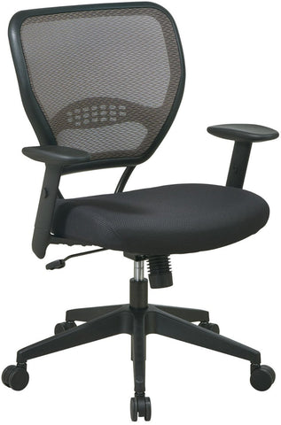Office Star Space Seating 55-38N17 Deluxe Latte AirGrid® Back Managers Chair - Peazz Furniture