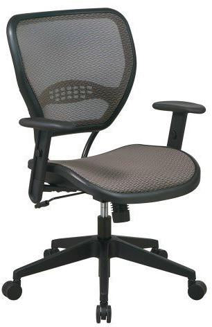 Office Star Space Seating 55-88N15 Latte AirGrid® Seat and Back Deluxe Task Chair - Peazz Furniture