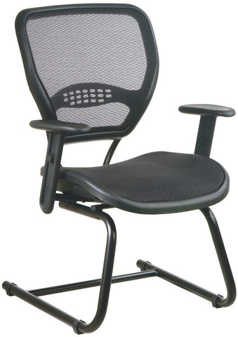 Office Star Space Seating 5565 AirGrid® Seat and Back Deluxe Visitors Chair - Peazz Furniture