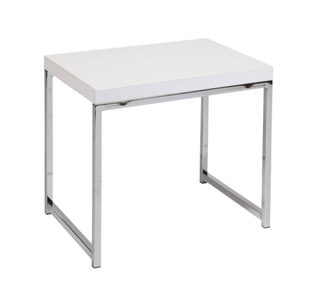 Office Star Ave Six WST09-WH Wall Street End Table in White - Peazz Furniture