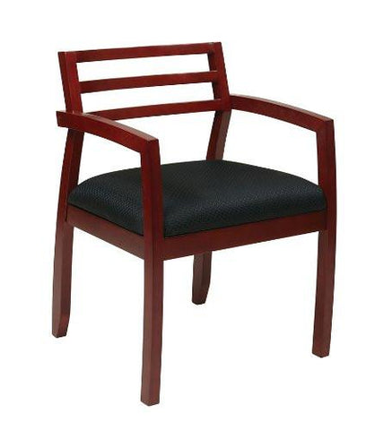 OSP Furniture NAP91CHY-3 Napa Cherry Guest Chair With Wood Back (1-Pack) - Peazz.com