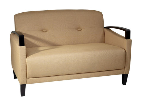 Office Star Ave Six MST52-S22 Main Street Loveseat in Woven Seaweed - Peazz Furniture