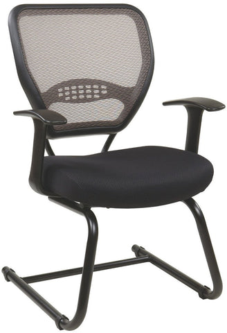 Office Star Space Seating 55-38V30 Professional Latte AirGrid Back Visitors Chair - Peazz Furniture