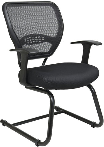 Office Star Space Seating 5505 Professional AirGrid® Back Visitors Chair with Mesh Seat - Peazz Furniture