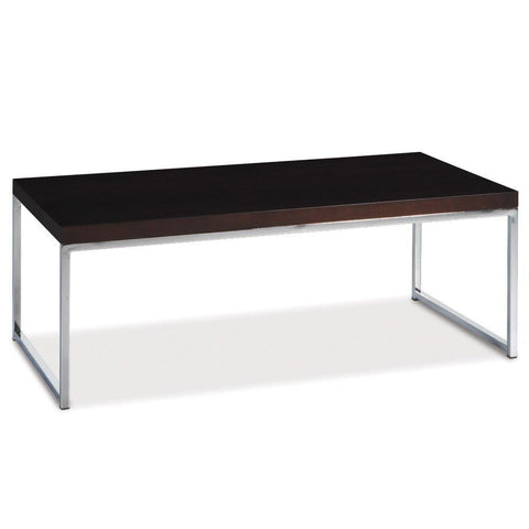 Office Star Ave Six WST12 Wall Street Coffee Table in Espresso - Peazz Furniture