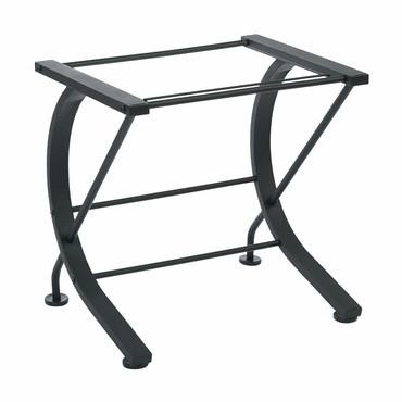 Pro-Line II / OSP Designs HZN30 Horizon File Caddy with Black Powder Coated Metal Frame and Clear Tempered Glass Top - Peazz Furniture