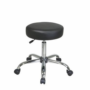 Office Star Work Smart ST428V-3 Pneumatic Drafting Chair. Backless stool with Vinyl Seat. - Peazz Furniture