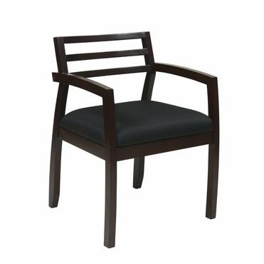 OSP Furniture NAP91ESP-3 Napa Espresso Guest Chair With Wood Back (1-Pack) - Peazz.com