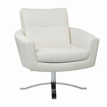 Ave Six NVA51-W32 Nova Chair With White Faux Leather By Ave 6 - Peazz Furniture