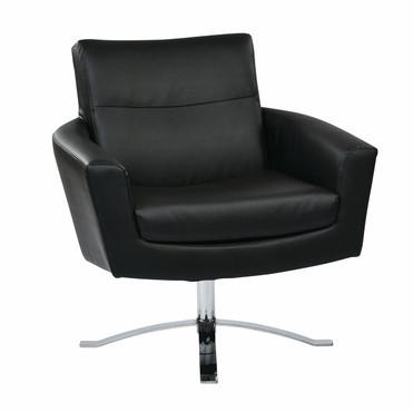 Ave Six NVA51-B18 Nova Chair With Black Faux Leather By Ave 6 - Peazz Furniture
