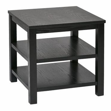 "Ave Six MRG09S-BK Merge 20"" Square End Table Black Finish - Peazz Furniture"