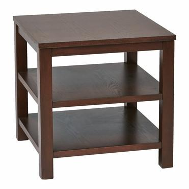 "Work Smart / Ave Six MRG09S-MAH Merge 20"" Square End Table mahogany Finish - Peazz.com"