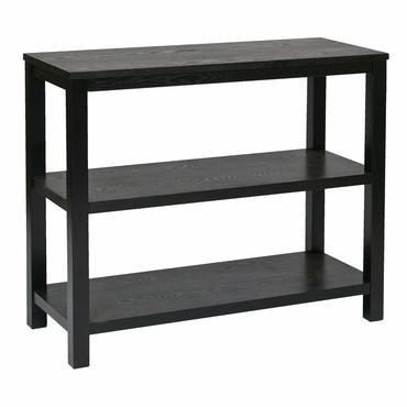 Ave Six MRG07R1-BK Merge Foyer Table Black Finish - Peazz Furniture
