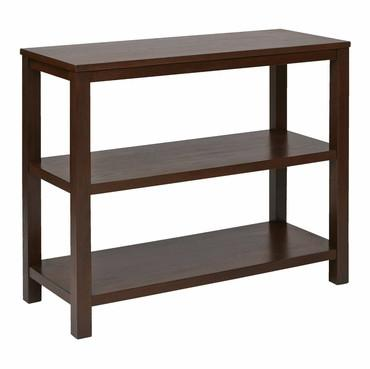 Work Smart / Ave Six MRG07R1-MAH Merge Foyer Table Mahogany Finish - Peazz.com