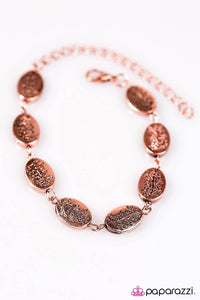 "Paparazzi ""Timber Timbre"" Copper Etched Tree Pattern Bracelet Paparazzi Jewelry"