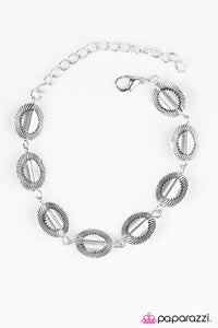 "Paparazzi ""Absolutely Radiant"" Silver Radiating Textured Discs Bracelet Paparazzi Jewelry"
