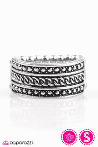 "Paparazzi ""Trailblazing Texture"" FASHION FIX Antiqued Shimmer Silver Tone Ring Paparazzi Jewelry"