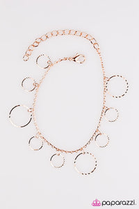 "Paparazzi ""Street Shimmer"" Etched Surfaces Dainty Hoops Copper Bracelet Paparazzi Jewelry"
